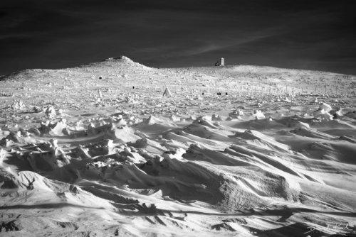 Śnieżne Kotły zima Faktury śniegu
