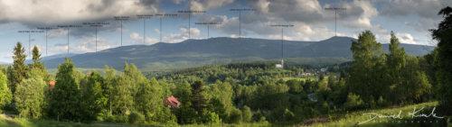 Panorama Karkonoszy opisy szczytów 1